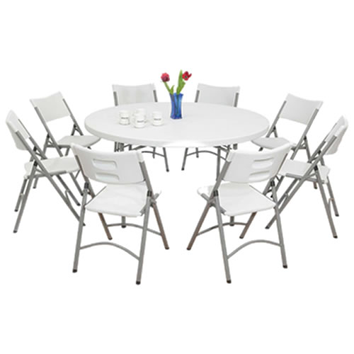 Ft White Rectangular Tables Chairs Jumpy Jumper - Round tables and chairs